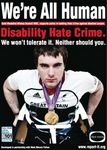 Paralympic gold medalist helps the police combat disability hate crime.