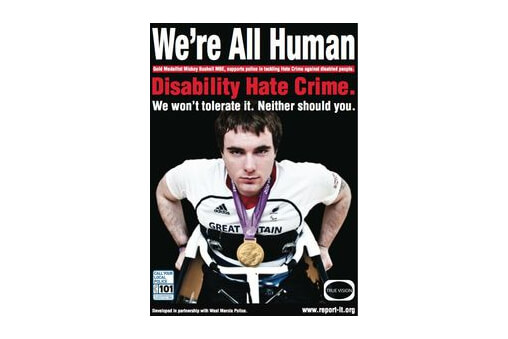 Paralympic gold medalist helps the police combat disability hate crime. cover image