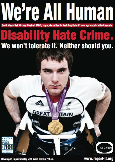 Paralympic gold medalist helps the police combat disability hate crime. -