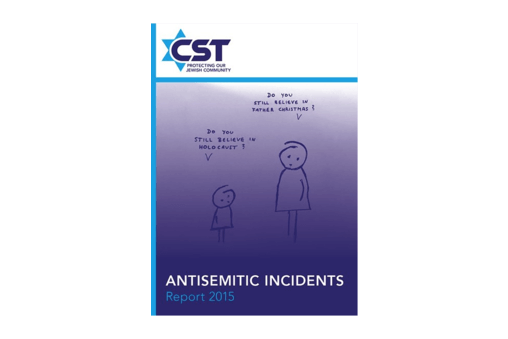 CST Antisemitic Incidents Report 2015 published today cover image