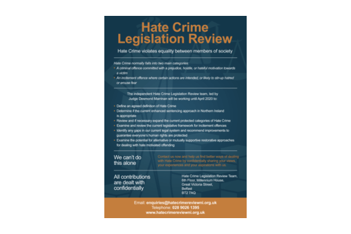 Judge Leads a Review of Hate Crime Legislation in Northern Ireland  cover image